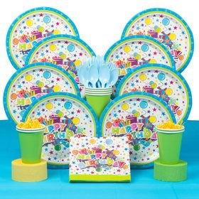 Birthday Burst Deluxe Birthday Party Tableware Kit (Serves 8)