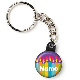 "Birthday Burst Personalized 1"" Mini Key Chain (Each)"