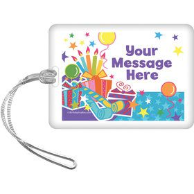 Birthday Burst Personalized Bag Tag (Each)