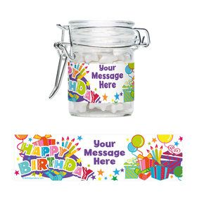 Birthday Burst Personalized Glass Apothecary Jars (10 Count)