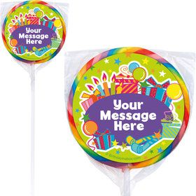 Birthday Burst Personalized Lollipops (12 Pack)