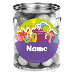Birthday Burst Personalized Mini Paint Cans (12 Count)