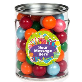 Birthday Burst Personalized Paint Cans (6 Pack)