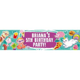 Birthday Celebration Personalized Banner (Each)