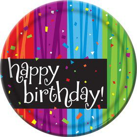 Birthday Celebrations Cake Plates (8 Pack)