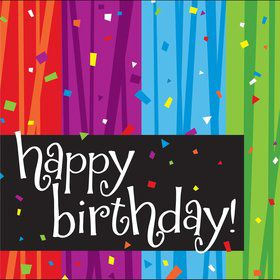 Birthday Celebrations Napkins (16 Count)