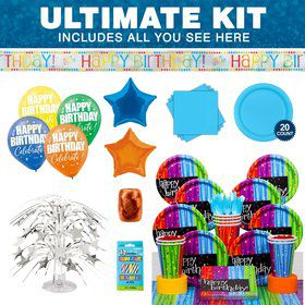 BIRTHDAY CELEBRATIONS Ultimate Tableware Kit