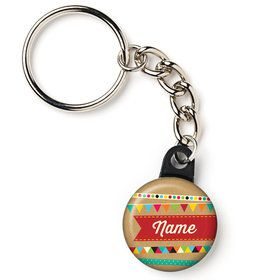 "Birthday Craft Personalized 1"" Mini Key Chain (Each)"
