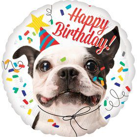 Birthday Dog Round Foil Balloon