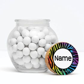 """Birthday Doodle Personalized 3"""" Glass Sphere Jars (Set of 12)"""
