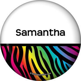 Birthday Doodle Personalized Button (Each)