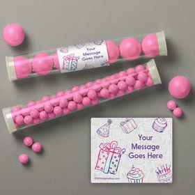 Birthday Doodle Personalized Candy Tubes (12 Count)
