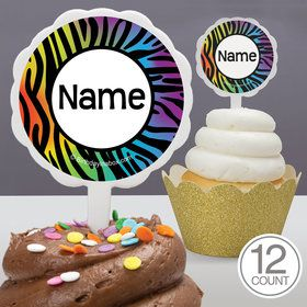 Birthday Doodle Personalized Cupcake Picks (12 Count)