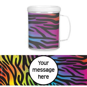 Rainbow Zebra Personalized Favor Mugs