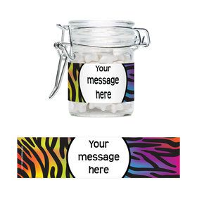 Birthday Doodle Personalized Glass Apothecary Jars (10 Count)