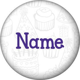 Birthday Doodle Personalized Mini Button (Each)