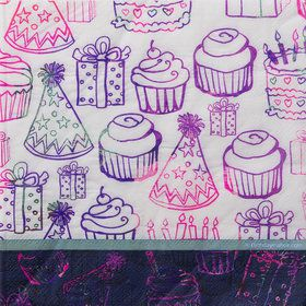 Birthday Doodles Luncheon Napkins (16 Count)