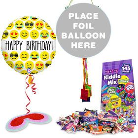 Birthday Emoji Pull String Economy Pinata Kit