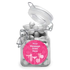 Birthday Fabulous Personalized Glass Apothecary Jars (12 Count)