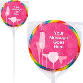 Birthday Fabulous Personalized Lollipops (12 Pack)