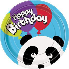 "Birthday Panda 9"" Luncheon Plates (8 Pack)"