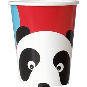 Birthday Panda 9oz Cups (8 Pack)