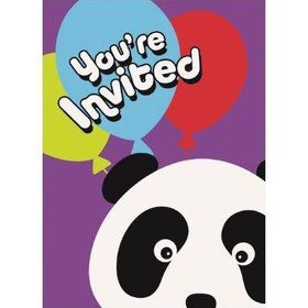 Birthday Panda Invitations (8 Pack)