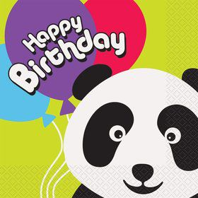Birthday Panda Luncheon Napkins (16 Pack)