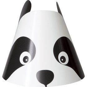 Birthday Panda Party Hats (8 Pack)