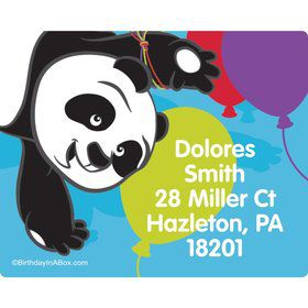 Birthday Panda Personalized Address Labels (Sheet of 15)