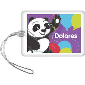 Birthday Panda Personalized Bag Tag (each)