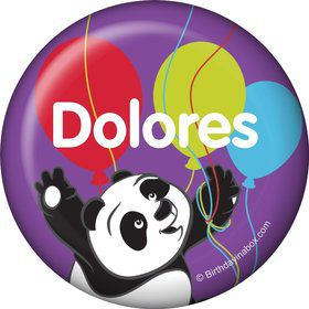 Birthday Panda Personalized Button (Each)