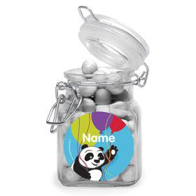 Birthday Panda Personalized Glass Apothecary Jars (10 Count)