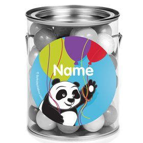 Birthday Panda Personalized Mini Paint Cans (12 Count)