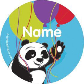 Birthday Panda Personalized Mini Stickers (Sheet of 24)