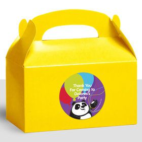 Birthday Panda Personalized Treat Favor Boxes (12 Count)