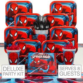 Birthday Party Ultimate Spiderman Deluxe Tableware Kit Serves 8