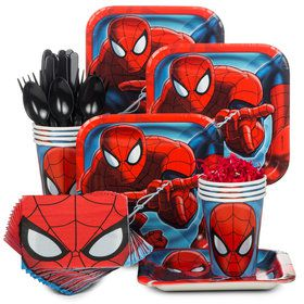 Birthday Party Ultimate Spiderman Standard Tableware Kit Serves 8