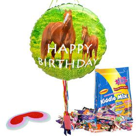 Birthday Pony Pull String Economy Pinata Kit