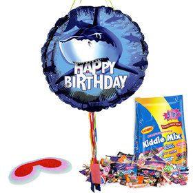 Birthday Shark Pull String Economy Pinata Kit