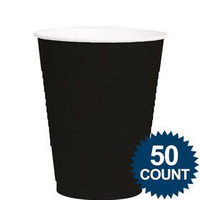 Black 12Oz. Plastic Cup (50 Pack)
