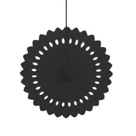 "Black 16"" Decorative Fan Decoration (Each)"