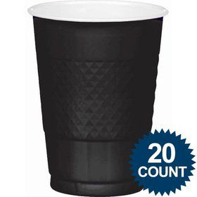 Black 16Oz. Plastic Cups (20 Pack)