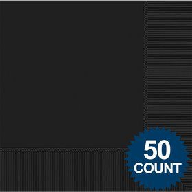 Black 2-Ply Luncheon Napkins, 50 ct.