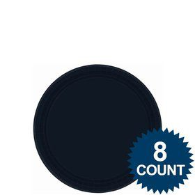 "Black 7"" Paper Cake Plates (8 Pack)"