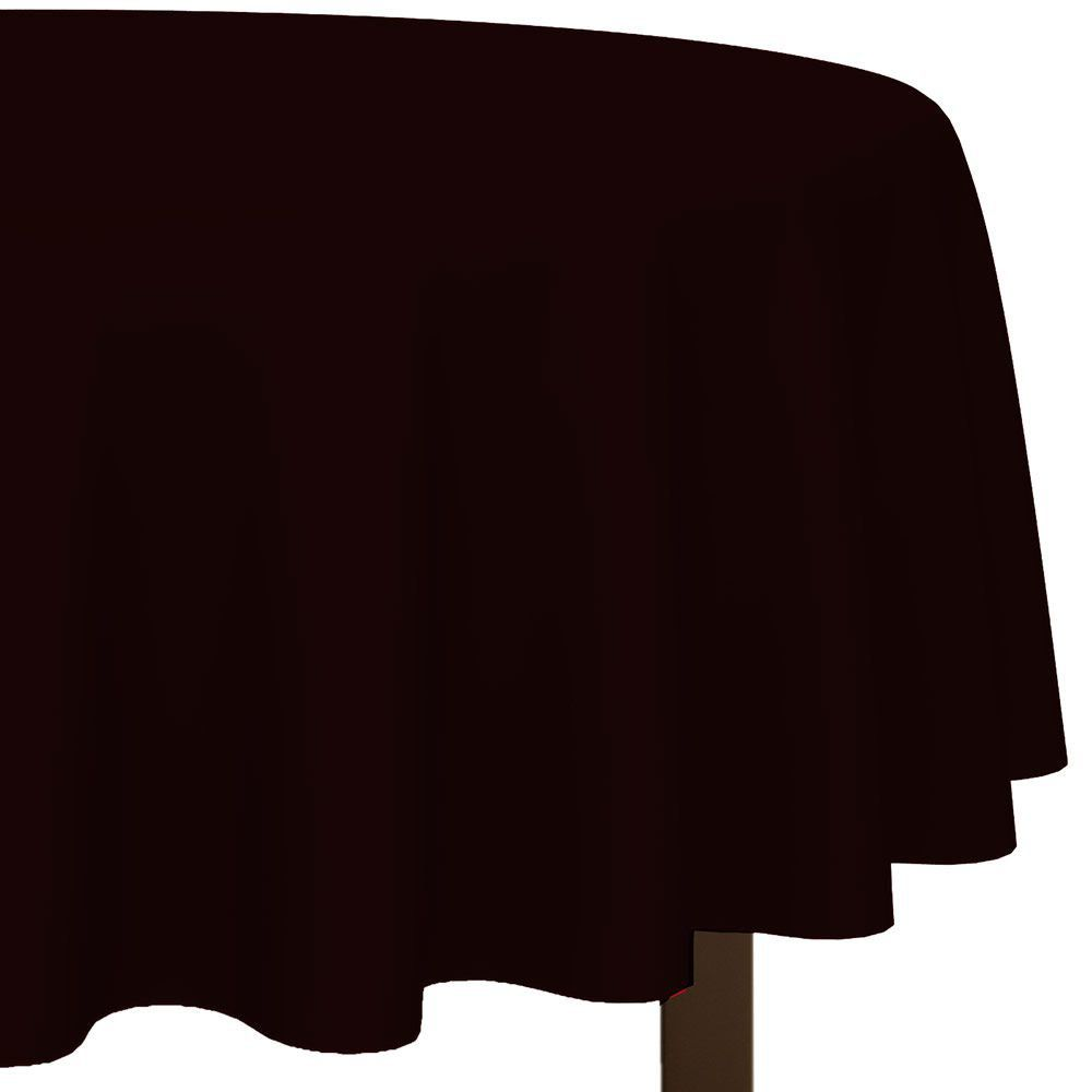225 & Black 84 Round Table Cover - Covers and Themed Tableware ...