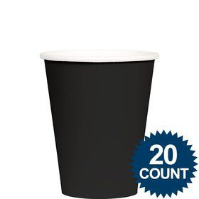Black 9 oz. Paper Cups, 20 ct.