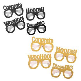 Black and Gold Grad Glasses (4)