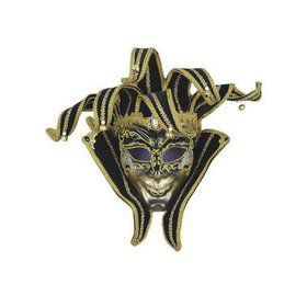 Black and Gold Jester Mask