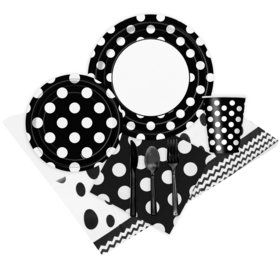 Black and White Dots Party Pack